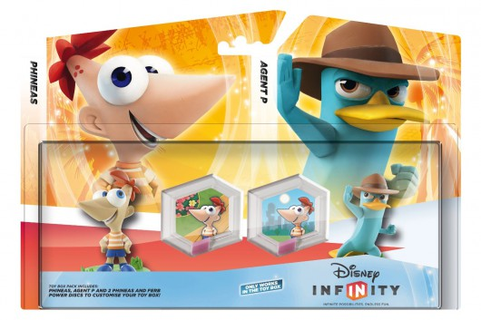 Phineas and Ferb Toy Box Pack (Phineas, Agent P) - Packaging (EU)